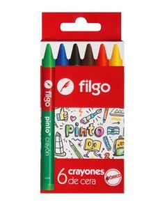 6 crayones de cera