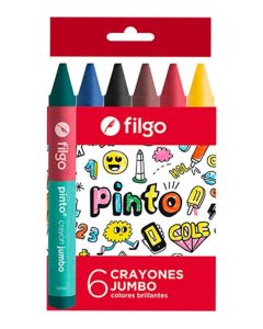 6 crayones de cera Jumbo