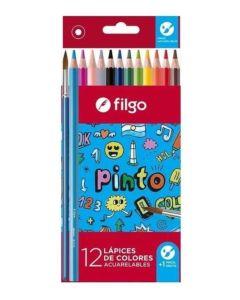 Lápices de colores acuarelables x12