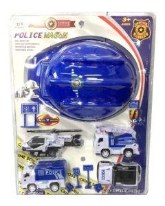 Set de casco de policia con vehiculos POLICE OFFICER