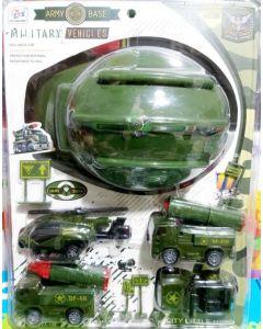 Set de casco militar con vehiculos ARMY BASE