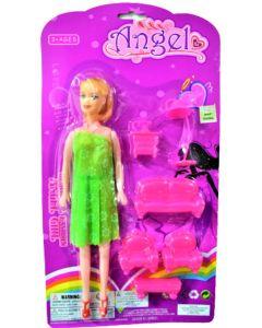 Muñeca Angel con accesorios de hogar