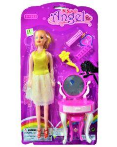 Muñeca Angel con set de maquillaje
