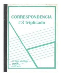 Libro correspondencia N°2 triplicado