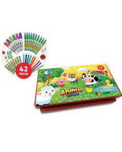 Kit de actividades Animal friends 42 piezas