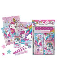 Set escolar unicornio 11 piezas