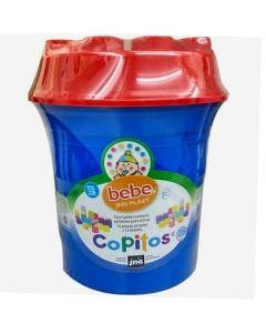 Balde de Apilables Copitos Azul x 28 Piezas