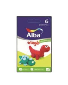 Plastilina Alba 6 u. de colores
