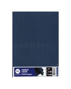 Hojas A4 x10 hojas de 120 gr. Color  Puerto seguro