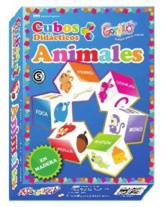 Juego cubos didacticos animales