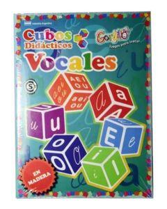 Juego cubos didacticos vocales
