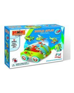 Juego vehiculo para armar HNK Build & Play