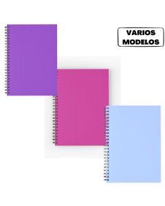 Cuaderno 29.7 A4 espiralado 90 hojas rayadas Varios colores