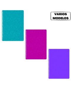Cuaderno A5 entelado 90 hojas rayadas 'Varios colores'