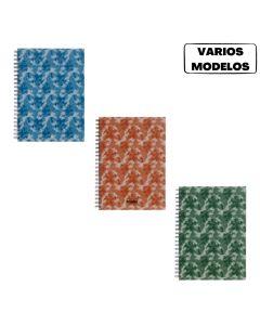 Cuaderno 29.7 espiralado 90 hojas rayadas Camuflado