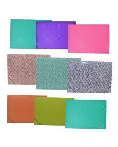 Carpeta 3 Solapas Carton Plastificado +Elastico Lunares Nº6
