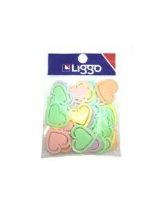 Clips Plasticos Corazones Pastel