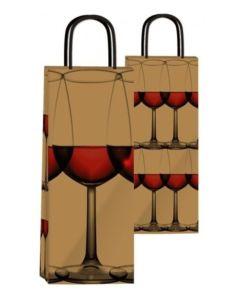 Bolsa fantasia bot vino drink  14x10x40 cm.