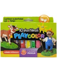 Plastilinas Playcolor 10u.