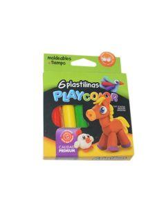 Plastilinas Playcolor 6u.