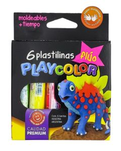 Plastilinas Playcolor 6u. Flùo