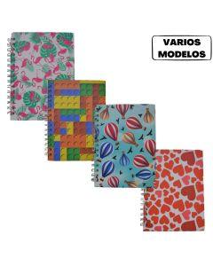 Cuaderno espiralado 16x21 80 hojas rayadas 'Varios modelos'