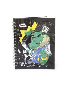 Cuaderno con espiral tapa dura Rayado 16x21 COCODRILO