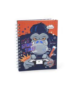 Cuaderno con espiral tapa dura Rayado 16x21 GORILA