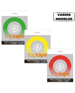 Cinta adhesiva de papel 24x50 'Varios colores'