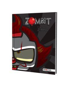 Cuaderno 16x21 Tapa Dura Rayado x48h Ultra Zombie