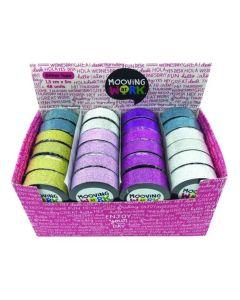 Cinta Adhesiva Glitter Pastel 'Varios colores'