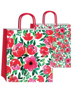 Bolsa de regalo Flores Acuarelas 36x22x39 cm.