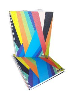 Cuaderno espiralado 29.7 80 hojas cuadriculadas Geometrico