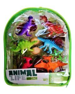 Mochila con dinos y accesorios Animal life