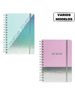 Cuaderno Bullet Journal espiralado 80 hojas Linea HOLO 'Varios modelos'