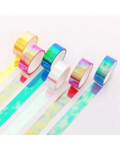 Cinta pastel Holografica 1.5 cm. x 5 mm. 'Varios colores'