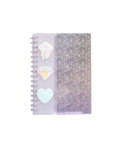 Cuaderno FW Holográfico 80 hojas liso con regla