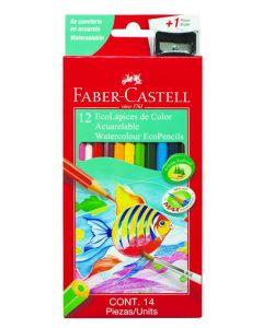 12 eco-lápices de color acuarelables
