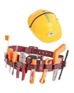 Cinturon con herramientas y casco de constructor TOOLS