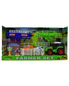Set de granja con tractor y accesorios FARMER SET