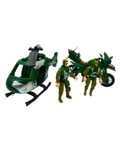 Set militar Helicoptero y moto TERRITORY WINNER