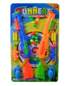 Set de pistolas lanza dardos con set de punteria GUNNERS SHOOTING