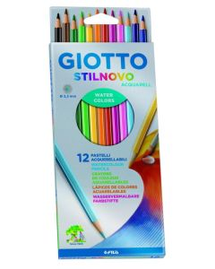 12 Lapices de colores acuarelables
