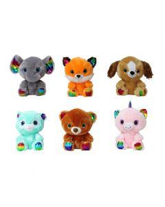 Peluche Animales Ojos de Vidrio Detalles Multicolor 7.5'