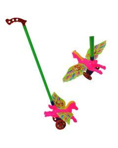 Caballo de arrastre con alas y mango