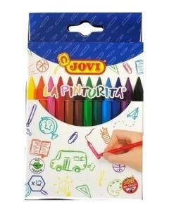 12 crayones de cera
