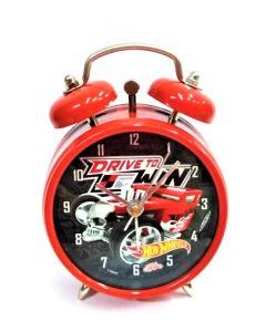 Reloj despertador hot wheels