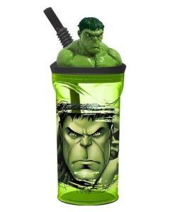 Vaso con figura Hulk