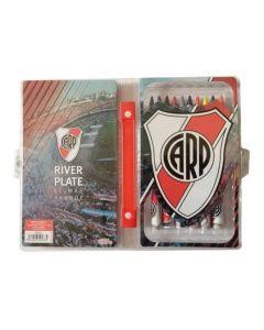 Set escolar 42 piezas River Plate