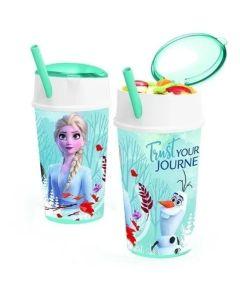 Vaso con porta cereal Frozen